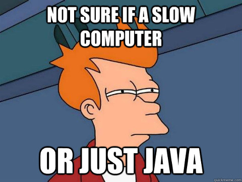 Not sure if a slow computer... or just Java